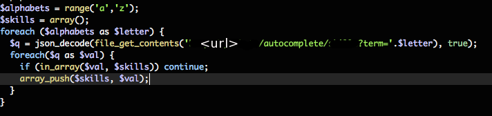 autocomplete example code