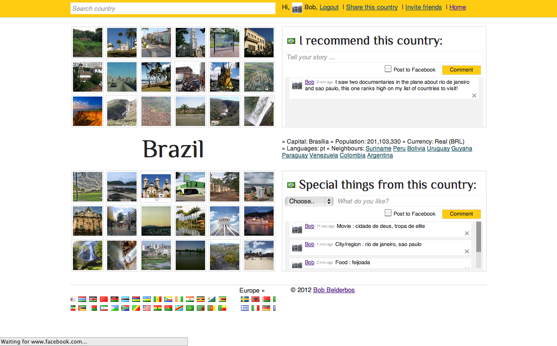 brazil country page