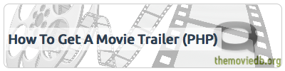 How to programatically get a youtube movie trailer