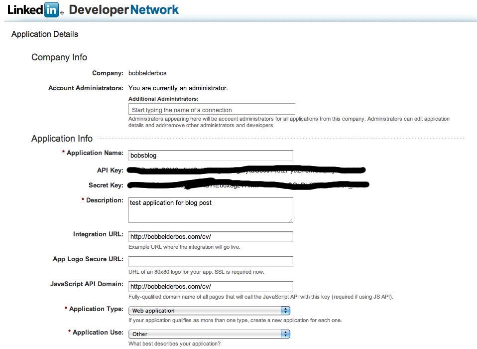 how to get linkedin url from app