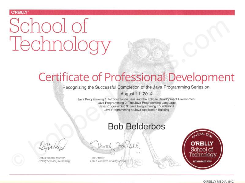 Java Advanced certificate