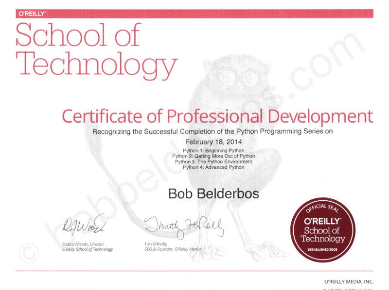 Python certificate