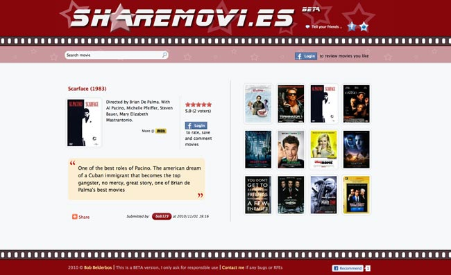 sharemovies homepage