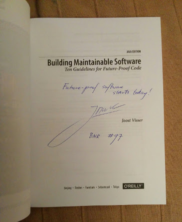 Signed copy of the book