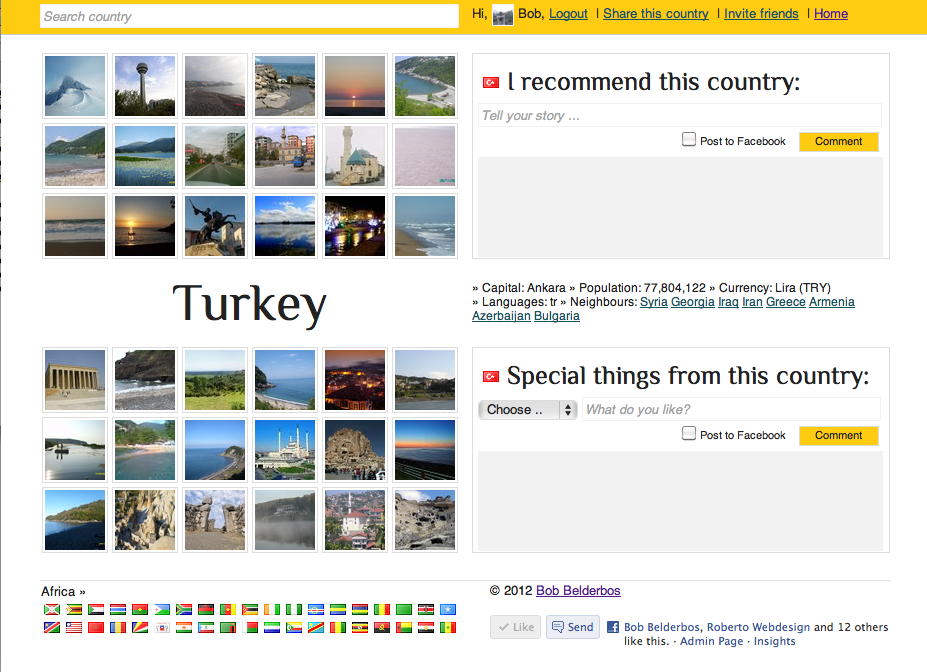 turkey country page